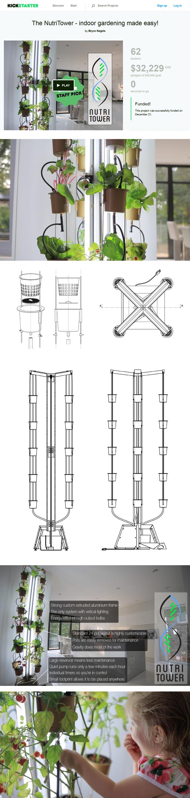 """""""Nutri Tower""""""""indoor gardening""""""""home gardening"""" Design and development of indoor gardens"""""""
